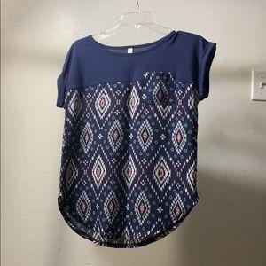 extra small xhilaration nazy t-shirt